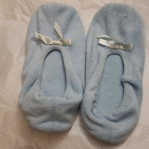 WOMEN'S TERRY BED SLIPPERS SZ L (8-9)